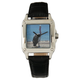 """Pelican,-""""The Look"""",-Ladies Square Leather Watch. Wrist Watches"""