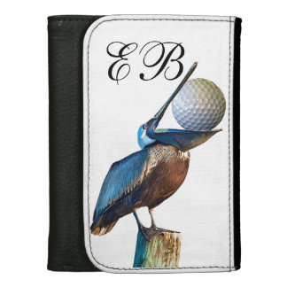 Pelican with Golf Ball Customizable Monogram Wallets