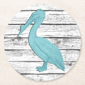 Pelican Your Color Boardwalk Round Paper Coaster