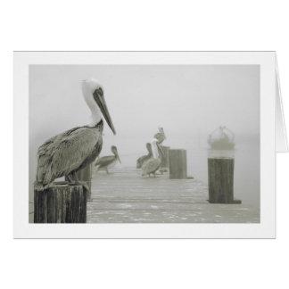 Pelicans and Shrimp boat Card