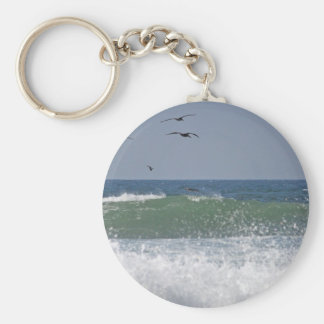 Pelicans at Horsfall Beach Keychains