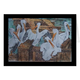 pelicans at Rockport, TX Card