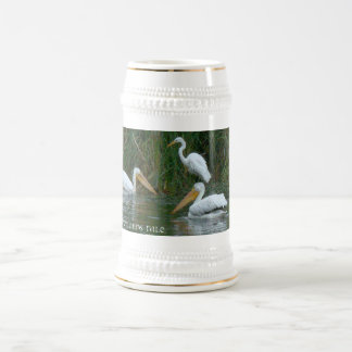 Pelicans & Egret Wetlands Mug