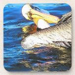 Pelicans Flying Art Cork Coaster