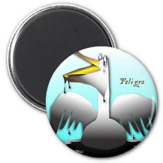 Peligro Pelican 6 Cm Round Magnet