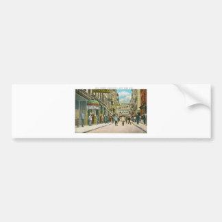 Pell Street (CHINATOWN), New York City (Vintage) Bumper Sticker
