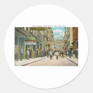 Pell Street (CHINATOWN), New York City (Vintage) Round Sticker