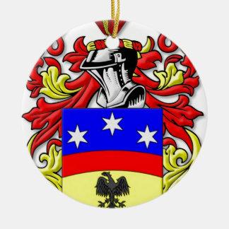 Pellegrino Coat of Arms Round Ceramic Decoration