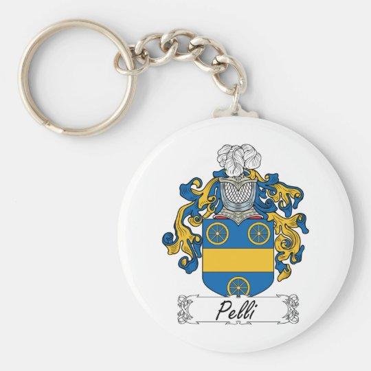 Pelli Family Crest Basic Round Button Key Ring
