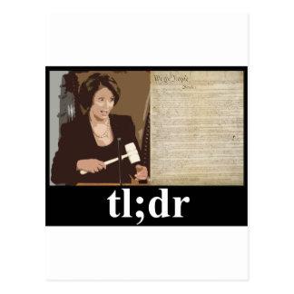 Pelosi-Constitution: tl;dr Postcard