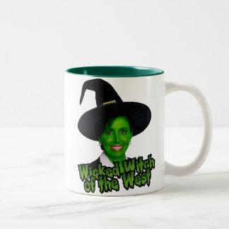 Pelosi: Wicked Witch of the West Two-Tone Coffee Mug