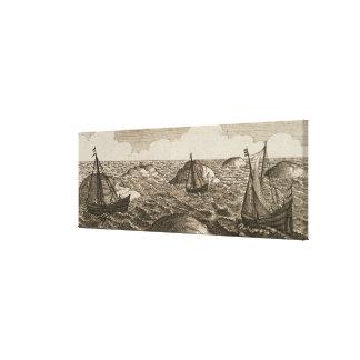 Pelsaert Sets Sail   Way Between Islands, Gallery Wrapped Canvas