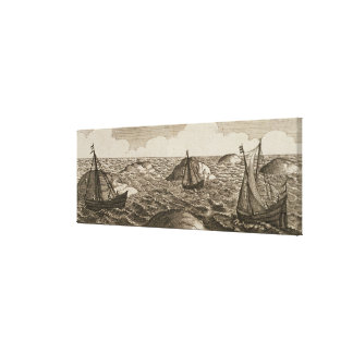 Pelsaert Sets Sail   Way Between Islands, Canvas Print