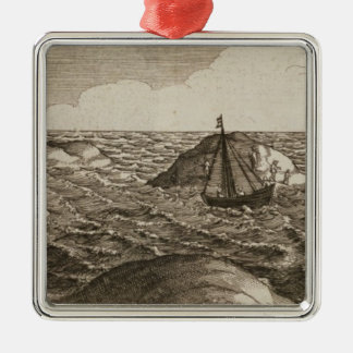 Pelsaert Sets Sail   Way Between Islands, Christmas Ornament