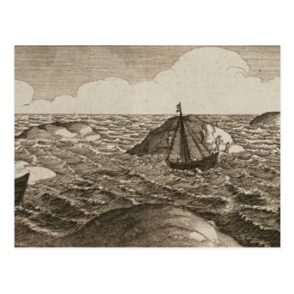 Pelsaert Sets Sail   Way Between Islands, Postcard