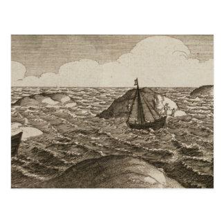 Pelsaert Sets Sail   Way Between Islands, Postcard
