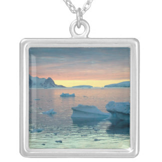 Peltier Channel in the last light of the day Silver Plated Necklace