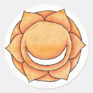 Pelvic Chakra Classic Round Sticker