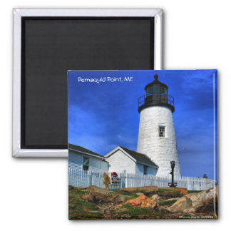 Pemaquid Lighthouse-Magnet Square Magnet