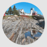 Pemaquid Point Light Round Sticker