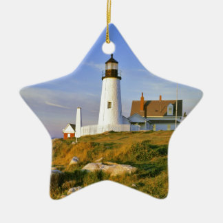 Pemaquid Point Lighthouse Ceramic Star Decoration