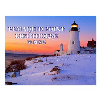 Pemaquid Point Lighthouse, Maine Postcard