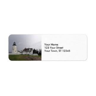 Pemaquid Point Lighthouse, Maine Return Address Label