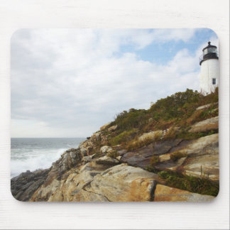 Pemaquid Point Lighthouse on a Rocky Hillside Mouse Mat