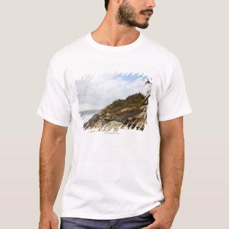 Pemaquid Point Lighthouse on a Rocky Hillside T-Shirt