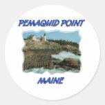 Pemaquid Point Lighthouse Round Sticker