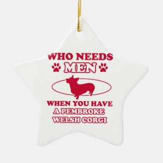Pembdroke welsh corgi mommy design christmas ornament