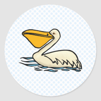 Pemberton Pelican Classic Round Sticker