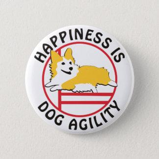 Pembroke Corgi Agility Happiness 6 Cm Round Badge