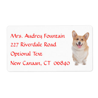 Pembroke Corgi  Name Return Address  Mailing Label