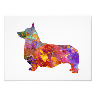 Pembroke Welsh Corgi 01 in watercolor 2 Photo Print