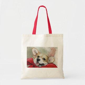 Pembroke Welsh Corgi and Santa Dog Art Tote Bag