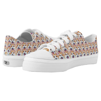 Pembroke Welsh Corgi Art Shoes Happy Go Lucky