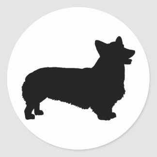 Pembroke Welsh Corgi (black) Classic Round Sticker