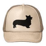 Pembroke Welsh Corgi (black) Mesh Hats