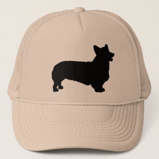 Pembroke Welsh Corgi (black) Trucker Hat