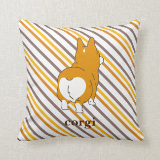 pembroke welsh corgi border cushion