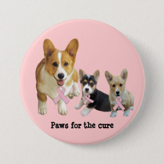 Pembroke Welsh Corgi Breast Cancer Button
