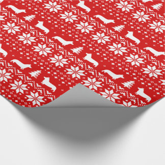 Pembroke Welsh Corgi Christmas Sweater Pattern Wrapping Paper