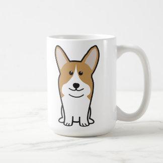 Pembroke Welsh Corgi Dog Cartoon Coffee Mug