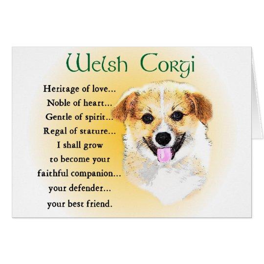 Pembroke Welsh Corgi Gifts Card