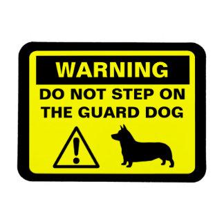 Pembroke Welsh Corgi Guard Dog Warning Magnet
