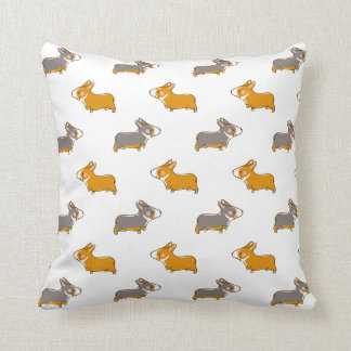 pembroke welsh corgi hand drawing handle cushion