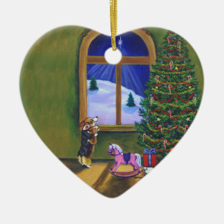 Pembroke Welsh Corgi Heart Ornament