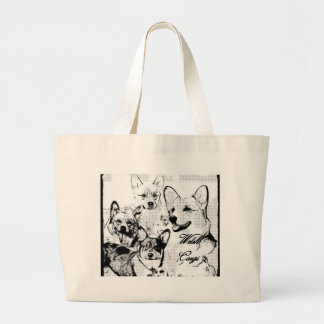 Pembroke Welsh Corgi Large Tote Bag