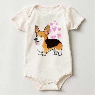 Pembroke Welsh Corgi Love Baby Bodysuit